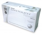 Safetouch White Nitrile Gloves (XS), powder-free - 100 pcs / box